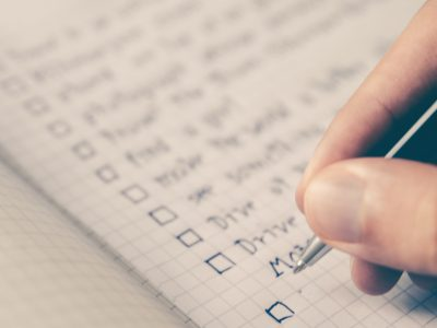 End of year financial checklist.